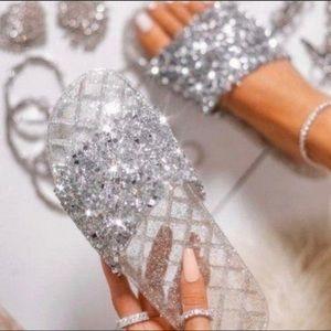 Embellished Sparkle Slides